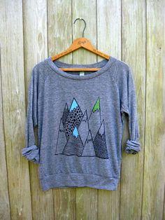 wild and free Mountain Shirt Hiking Shirt by nicandthenewfie, $36.00 >>> cute!