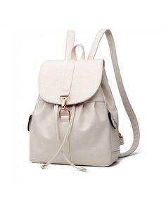 Buy Womens & Girls PU Leather Backpack Purse Fashion Casual Shoulder Bag - Beige 3 - and find your ideal Women Backpacks at affordable prices and fast shipping. Fashion Handbags, Fashion Bags, Fashion Backpack, Fashion Models, Fashion Women, Fashion Jewelry, Stylish Backpacks, Cute Backpacks, Cute Leather Backpacks