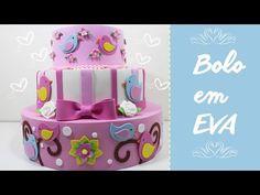 Artesanato EVA - Como Fazer Bolo em EVA - Parte 1 - Segredos de Aline - YouTube