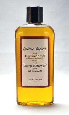 TABAC BLANC Shower & Bath Gel  250 ml/80 oz by elementalscents, $22.00