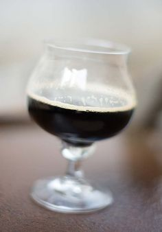 Browneywine recipe, a barley wine strength brown ale aged with rum infused oak cubes.