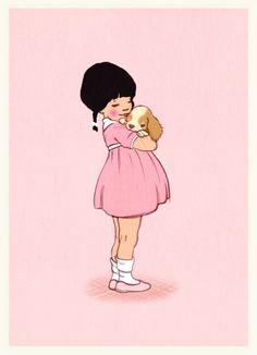 Belle & Boo ansichtkaart Puppy Love
