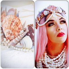 Boho beach mermaid crown, Mermaid hair don't care, Romantic bohemian hair wreath accessories, Gypsy soul mermaid Tiaras, True Rebel Clothing