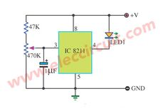 simple 555 pulse generator circuit eleccircuit com electronicbattery low voltage detector using ic 8211