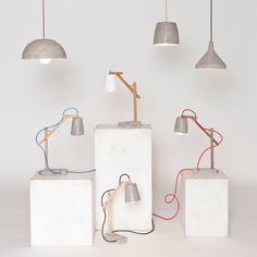 Remiz lamps series by Sara Kele Concrete, Cement, How To Introduce Yourself, Sconces, Wall Lights, Interior Design, Cool Stuff, Lighting, Home Decor