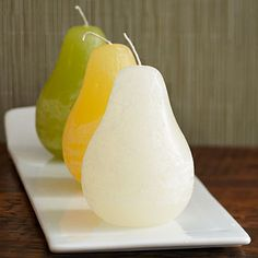 Pear Shaped Candles from Stonewall Kitchen