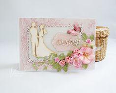 Odskocznia vairatki: Ślubne podziękowania Cute Cards, Wedding Cards, Scrapbooking, Decor, Wedding Ecards, Decoration, Pretty Cards, Scrapbooks, Decorating