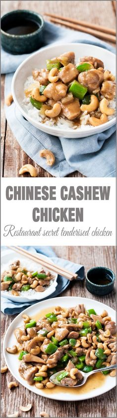 Chinese Cashew Chicken Stir Fry - Just like what you get at restaurants INCLUDING tenderising the chicken!