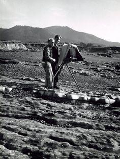 Edward Weston with his son