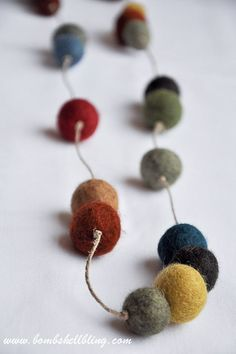 Felt Ball Statement Necklace-2                              …