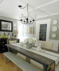 Modern farmhouse dining room decor ideas (62)