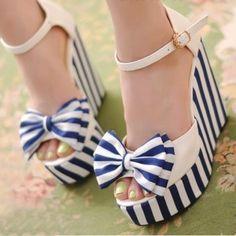 Wedge Heels Peep Toe Sandals