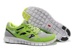 Nike Free Run 2 Apple Green Black Grey Men Shoes Sale: £56.31