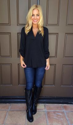This blouse is versatile enough for the work place as well as a night out on the town when you style it right.