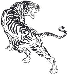 Angry tribal tiger in chinese style tattoo design Tiger Tattoo Small, Japanese Tiger Tattoo, Tiger Tattoo Design, Tattoo Designs, Tribal Tiger, Tiger Art, Tiger Illustration, Ink Illustrations, Leopard Tattoos