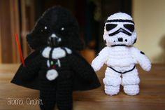 Darth Vader and Stormtrooper - Star Wars Amigurumi by BramaCrochet.deviantart.com on @DeviantArt