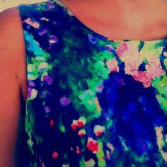 Printed fluo dress