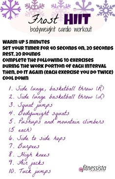 Frost HIIT Workout