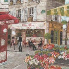 Pays : Serviette papier Paris place des fleurs 33 cm X 33 cm http://fournitures-loisirs.les-creatifs.com/serviettes.php?refer=Paris%20et%20fleurs pour la décoration de table ou autre objets