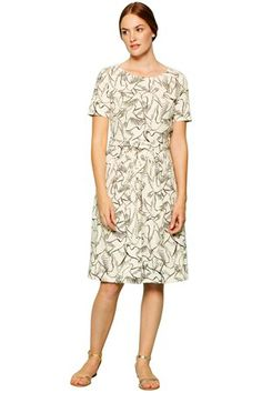 Lovely dove printed dress from #peopletree #organiccotton