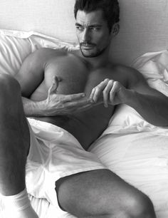 Pillow Tweets - David Gandy photographed by Mert Alas and Marcus Piggott, styled by Edward Enninful; W Magazine March 2014.