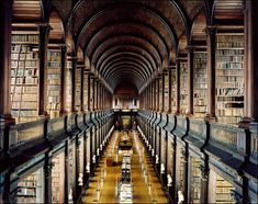 Long Room Trinity of College Library in Dublin, Ireland
