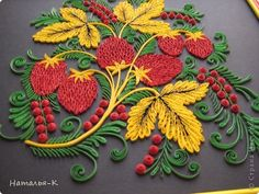 Master class in the art Khokhloma Quilling Paper quilling strips Photo 13