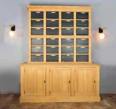 French Notary Cabinet | From a unique collection of antique and modern cabinets at https://www.1stdibs.com/furniture/storage-case-pieces/cabinets/