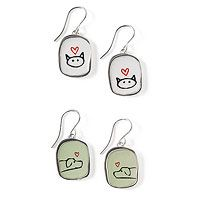 """LOVE MY PET"" EARRINGS  $48.00   By Mark Poulin"