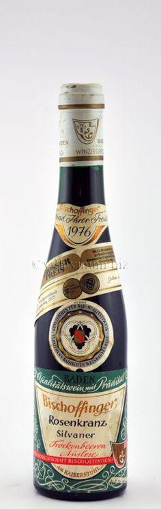 1976 Bischoffinger Rosenkranz, Silvaner, Trockenbeerenauslese, edelsüß, Winzergenossenschaft Bischoffingen, Am Kaiserstuhl, Baden, Deutschland (€ 30)