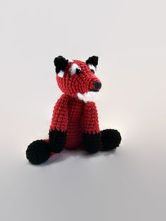 red fox crochet plush, fiber... from AWickedStitchery on Wanelo