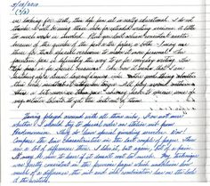 Posted Sample From Fountain Pen Network Cursive HandwritingHandwriting SamplesPerfect
