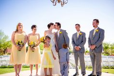 Spring wedding - grey and yellow