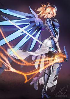 Blizzard-фэндомы-Mercy-(Overwatch)-Overwatch-3301417.jpeg (636×900)