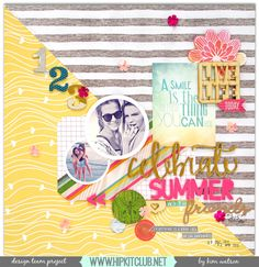kim watson & design & papercraft: Let's Celebrate Summer + new layout. Scrapbook Designs, Scrapbook Page Layouts, Scrapbooking Ideas, Scrapbook Journal, Scrapbook Cards, Smash Book Pages, Hip Kit Club, Websters Pages, Books For Boys