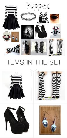 """Puppet fnaf2"" by tatianazapatat ❤ liked on Polyvore featuring art and me"
