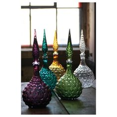 jewel tone decanter \ green - 510-10638 ($42) found on Polyvore