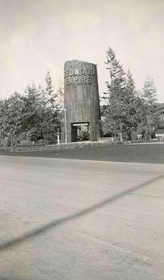 1939 San Francisco World's Fair - Treasure Island - The Redwood Empire Building