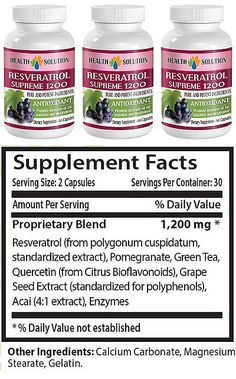 Weight Loss Supplements: Resveratrol Supreme 1200 Mg - Natural Weight Loss Pills - Fat Burner - 3 Bottles -> BUY IT NOW ONLY: $32.95 on eBay!