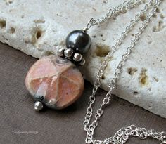 Pink Sand Dollar and Sterling Silver Necklace - Nantucket / summer shore beach classic star fish. $46.00, via Etsy.