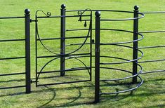 Durable, stylish steel gates for estates, farms and parkland, in a range of styles and sizes - compatible with our estate fencing. Barn House Conversion, Garden Railings, Field Fence, Iron Garden Gates, Livestock Farming, Barn Shop, Farm Gate, Metal Gates, Steel Gate