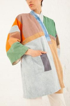 Quilted Kimono Jacke...