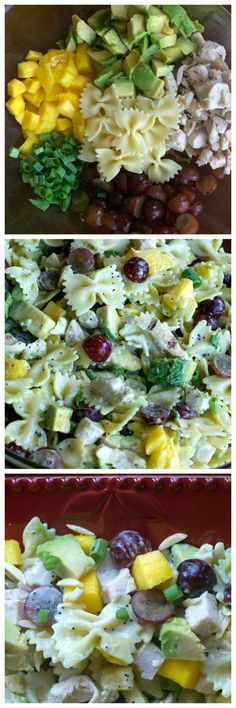 Mango Pasta Salad with Poppy Lime Dressing. Your new go-to pasta salad