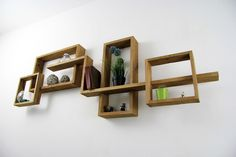 Recycled pallet wall shelves by YvaRDesigN on Etsy Pallet Wall Shelves, Wall Shelf Decor, Wood Wall Shelf, Wall Shelves Design, Wall Design, Niche Living, Contemporary Shelving, Wooden Walls, Home Interior Design