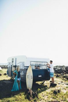 Millie the vintage caravan - Cedar & Suede