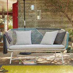 Lounge chair cushion gray west elm chairs and outdoor lounge - Sofas West Elm And Outdoor Sofas On Pinterest