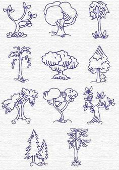 Free Embroidery Designs, Sweet Embroidery, Designs Index Page Art Drawings, Drawing Lessons For Kids, Drawings, Doodles, Art, Tree Drawing Simple, Coloring Pages, Doodle Drawings, Doodle Art Flowers