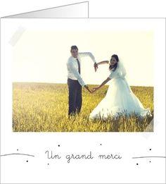 carte de remerciement mariage simple et joli disponible en 4 formats et - Remerciement Mariage Personne Absente