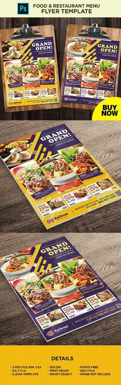 Buy Restaurant Menu - Food Menu Flyer by on GraphicRiver. Restaurant Menu – Food Menu Flyer All elements beside the image are fully editable CMYK – print ready Letter: Restaurant Flyer, Restaurant Menu Design, Pizza Restaurant, Food Menu Template, Menu Templates, Flyer Template, Food Vouchers, Drink Recipe Book, Pizza Menu