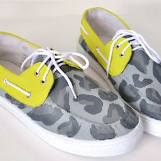 Leopard & Lime Painted Boat Shoes Tutorial